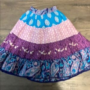 Purple and blue skirt